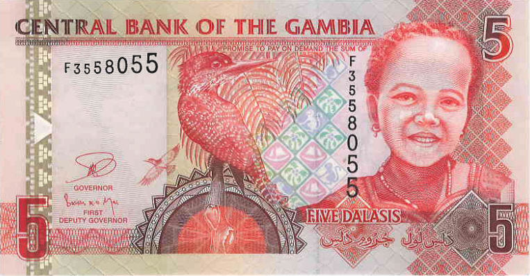 P25 Gambia 5 Dalasis (New Signature) Year 2013